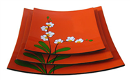 set of 3 square dishes