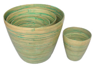 set of 4 bamboo cups