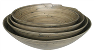 set of 4 bamboo bowls