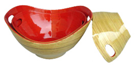 set of 3 bamboo bowls