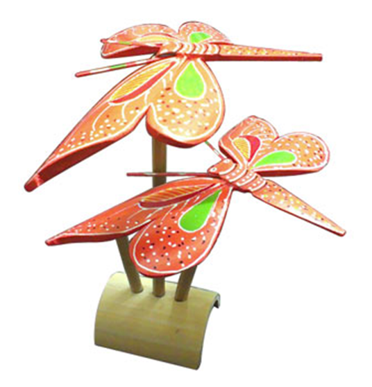 bamboo finger balancing butterfly