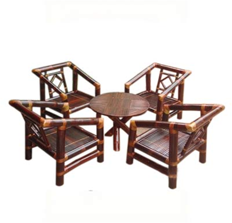 set of round table & 4 chairs