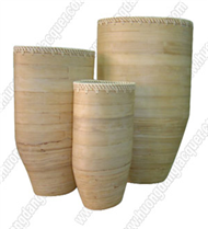 Natural bamboo vase set