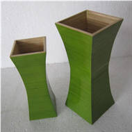 Home decoration bamboo vase set 2