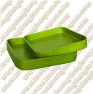 set of 2 square trays