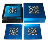 square box with 6 coasters