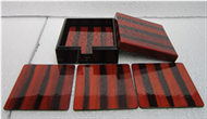 square box with 8 coasters