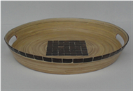 round trays with coconut inlay