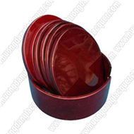 bamboo round box with 6 coaters