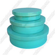 set of 3 bamboo round boxes