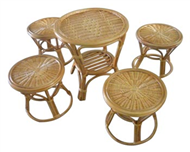 set of table & 4 stools