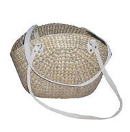 Vietnam Water hyacinth bag with leatherete handles