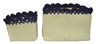 Set of 2 PP synthetic baskets