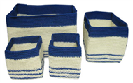 Set of 4 PP synthetic baskets