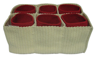 Set of 7 PP synthetic baskets