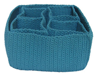 Set of 5 PP synthetic baskets