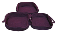 Set of 3 PP synthetic baskets