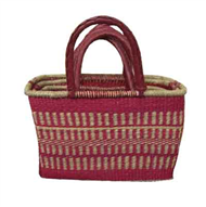 Vietnam Sedge bag with leatherete handles set 3