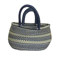Vietnam Sedge bag with leatherete handles set 2