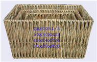 Vietnam Set of 3 rush baskets