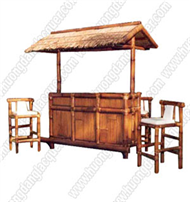 Bamboo Bar counter with roof