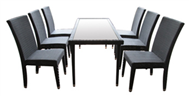set of PE rattan coffee table & 4 chairs