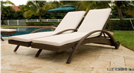 set of PE rattan lounges chair