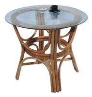 round table with glass