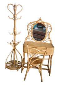 dressing table with clothes-hanger