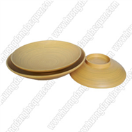 set of 3 round dishes