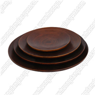 set of 4 round dishes