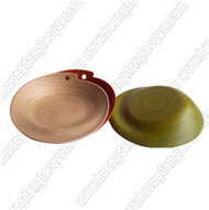 set of 2 bamboo dishes
