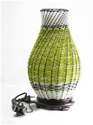 Bead twisted lamp