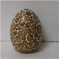 Easter egg with incrusted bamboo