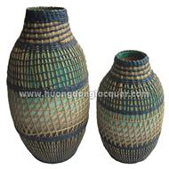 set of 2 Seagrass vase