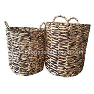 set of 2  Water Hyacinth baskets