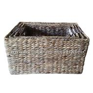 set of 4 water hyacinth baskets