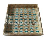 set of 3 lacquer trays